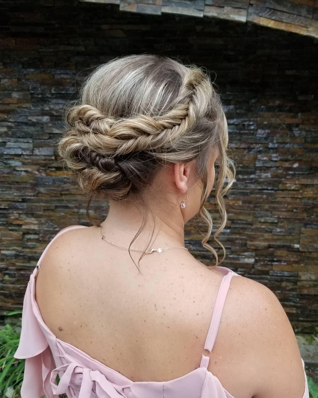 Up Do Dutch Fishtail Braid Hairstyles
