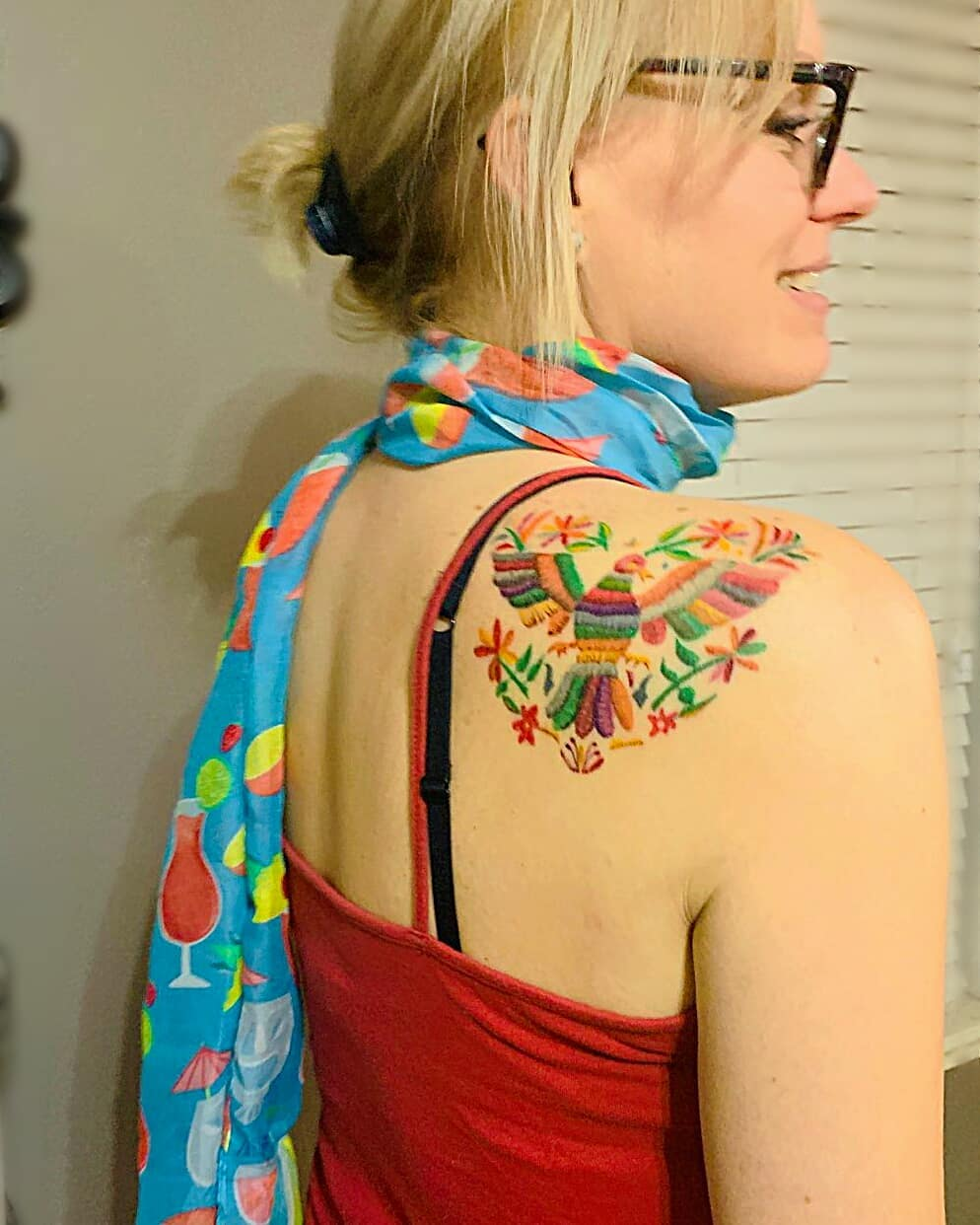 Impressive image of an embroidery tattoo