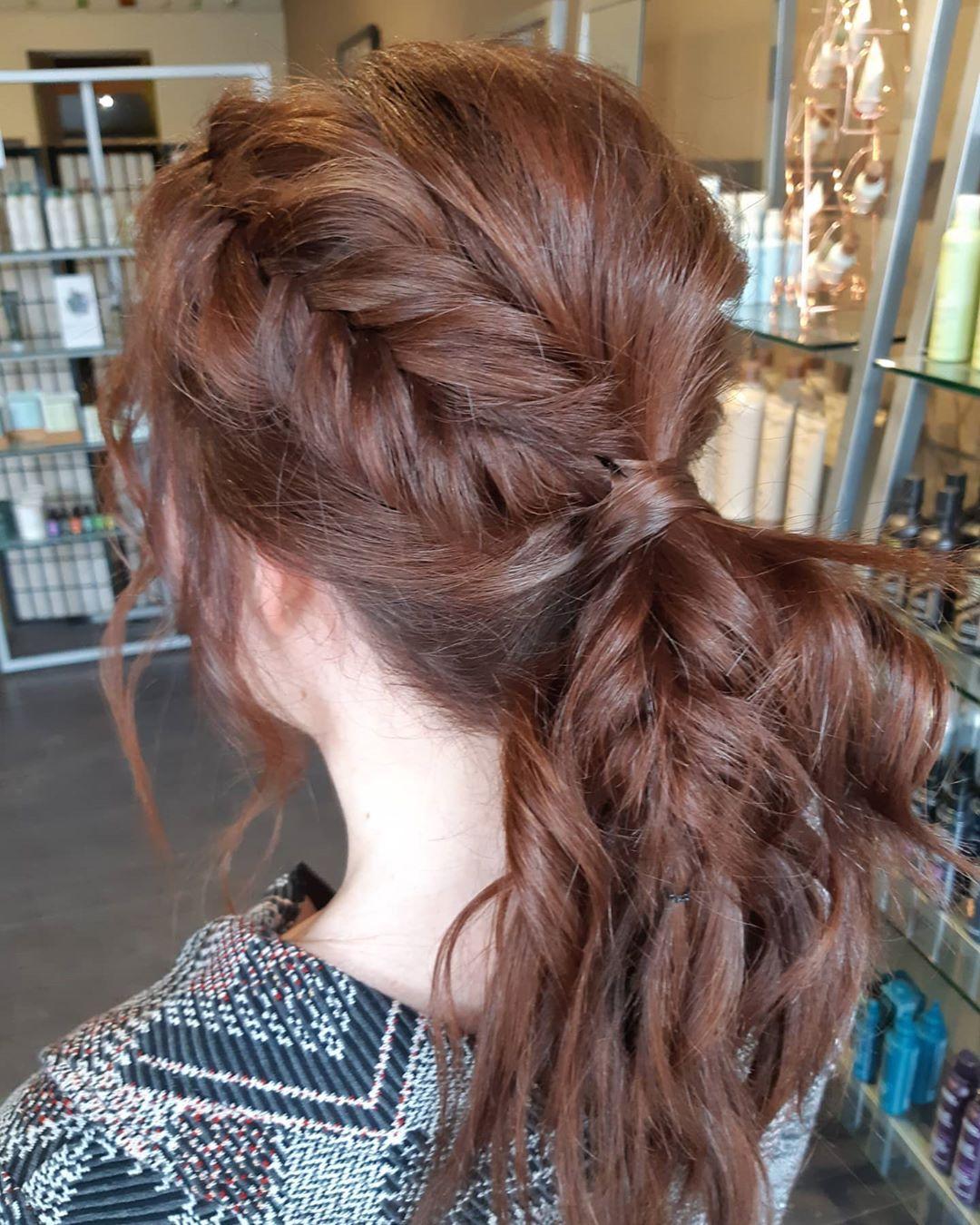 Elegant Dutch Fishtail Braid style