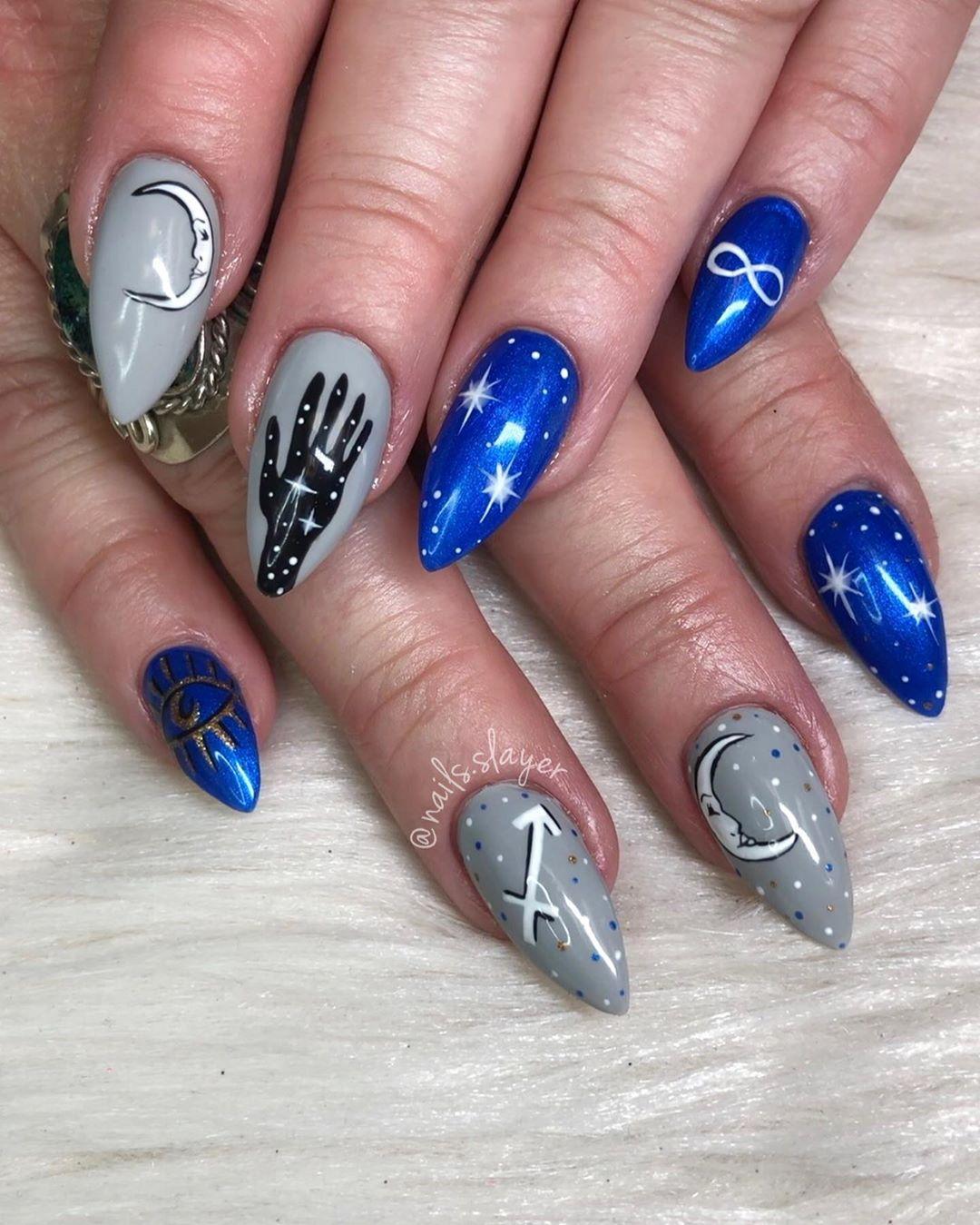 Incredible image of zodiac nails idea