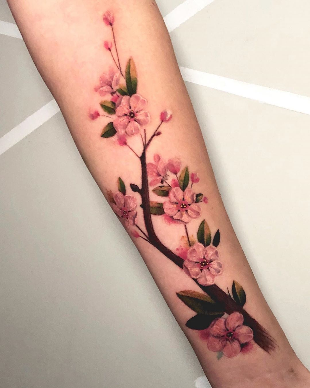 Gift of life Japanese Sakura tattoo