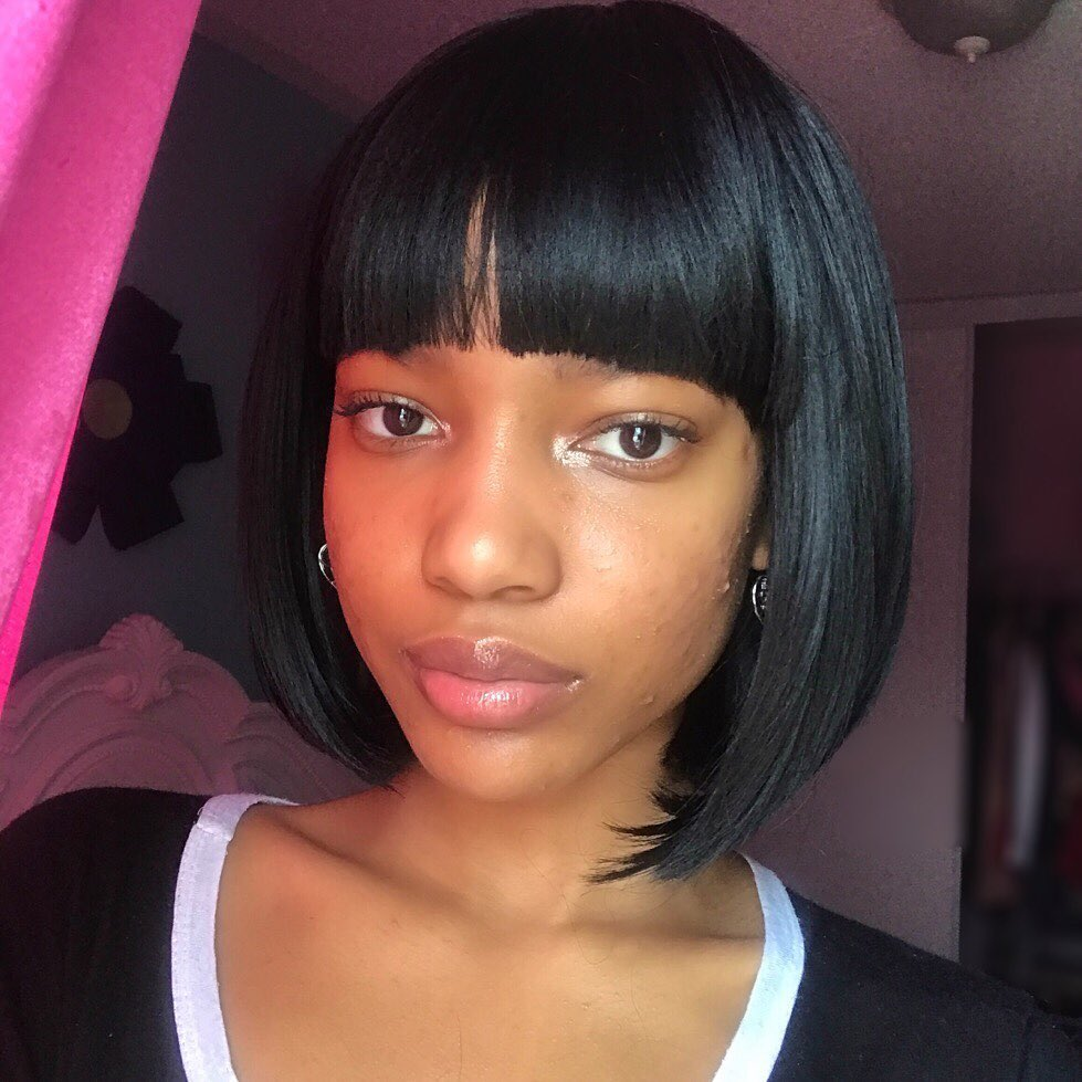 Image of woman with short hair with bangs hairstyle