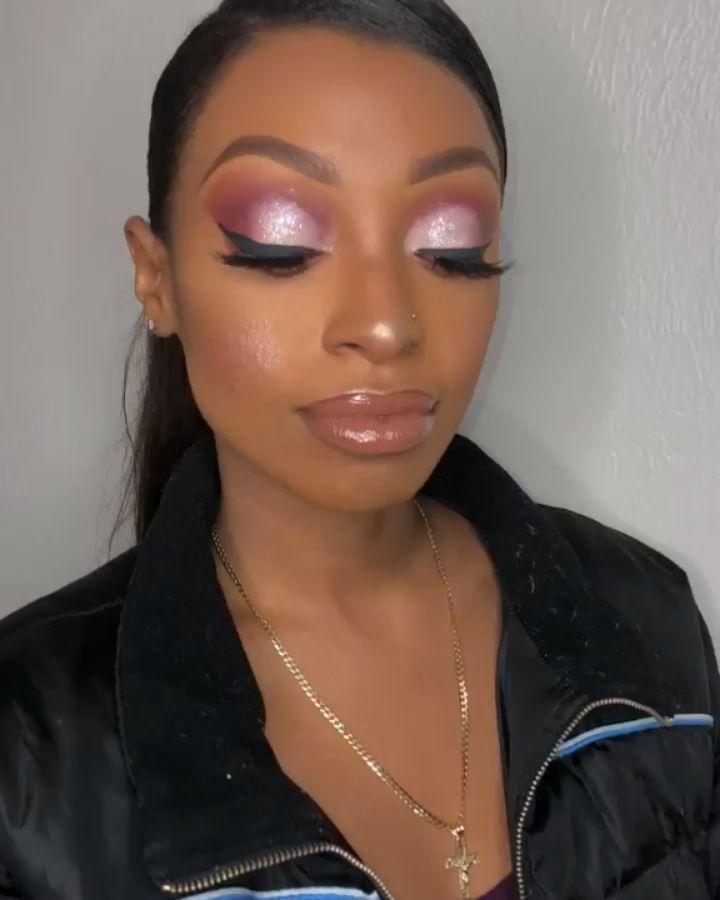 Pink Half Cut Crease Looks