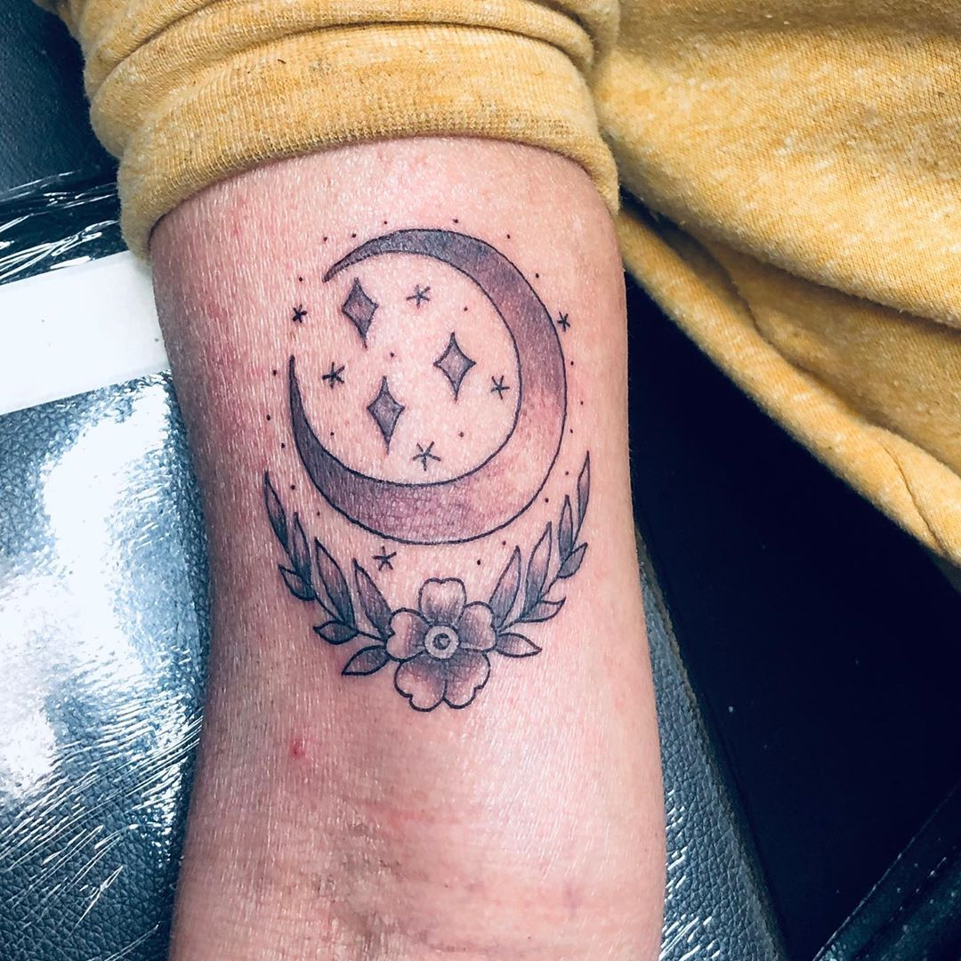 Moon and Star Tattoo Inspirations