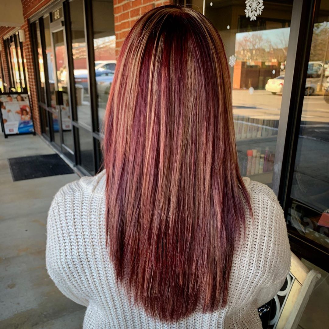 Red and blonde hair styles