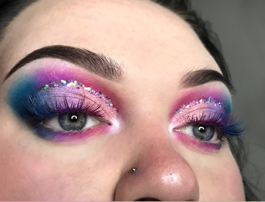 Mermaid eyes and Cut Crease technique