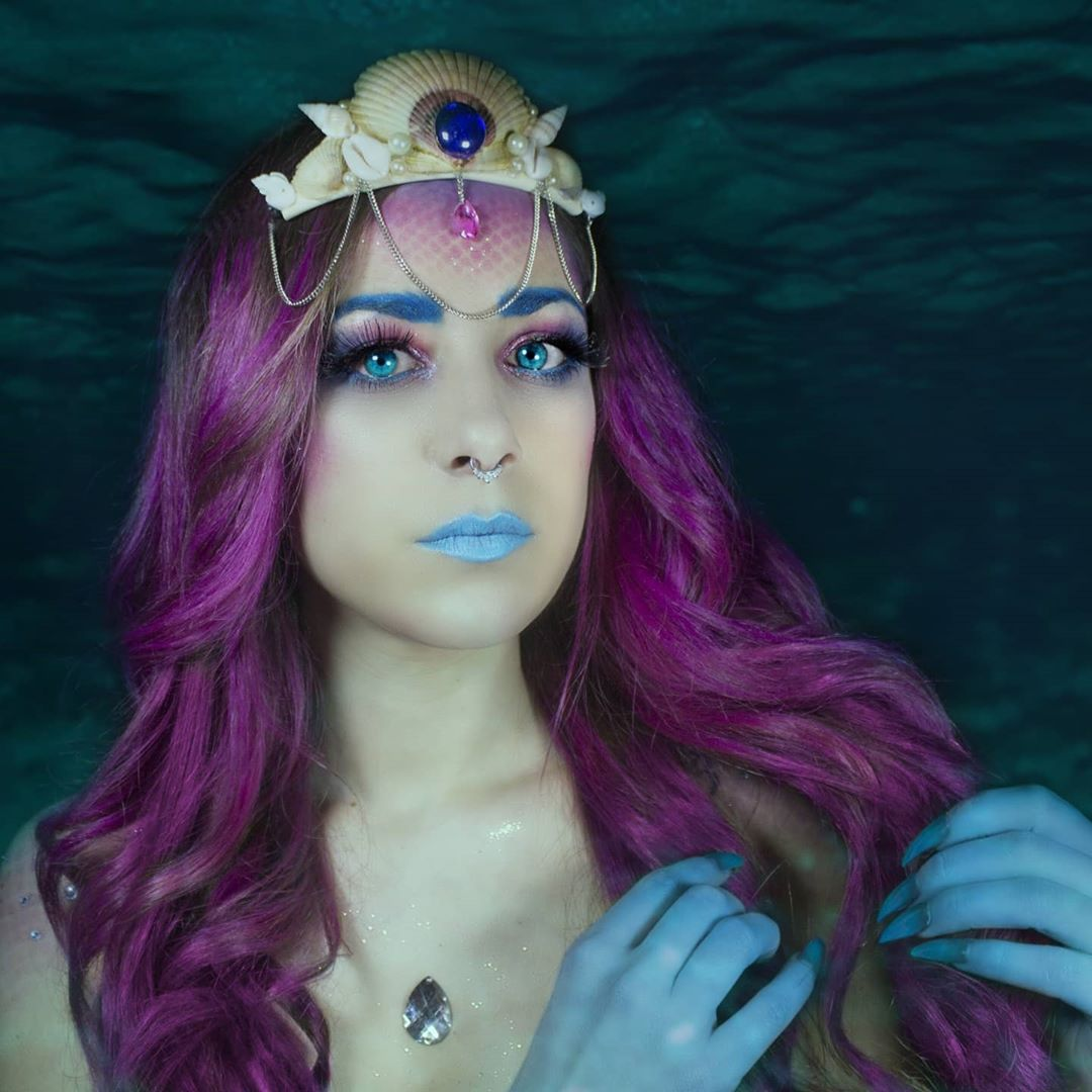 Mermaid makeup idea and inspiration
