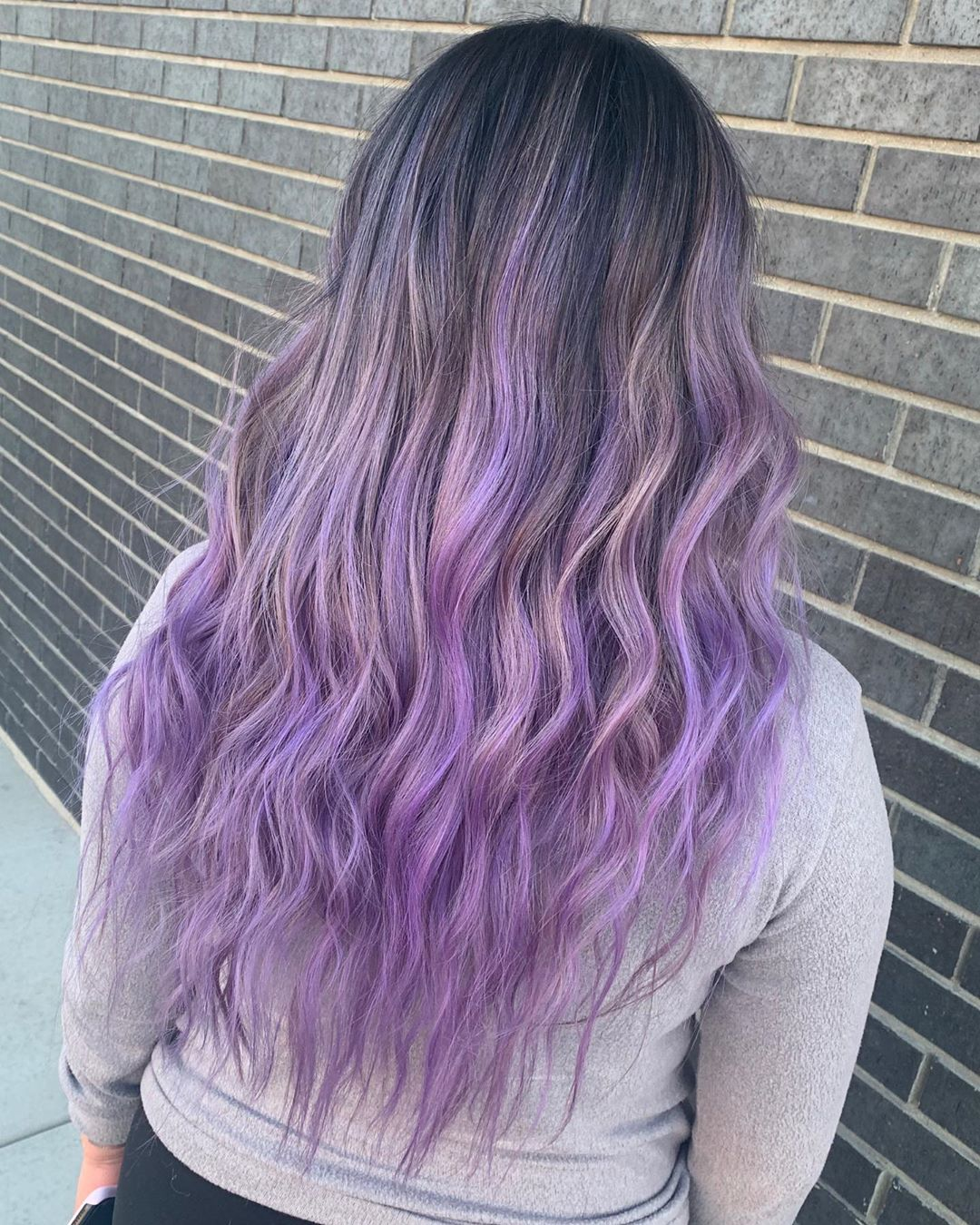 Stunning image of woman with lavender hair