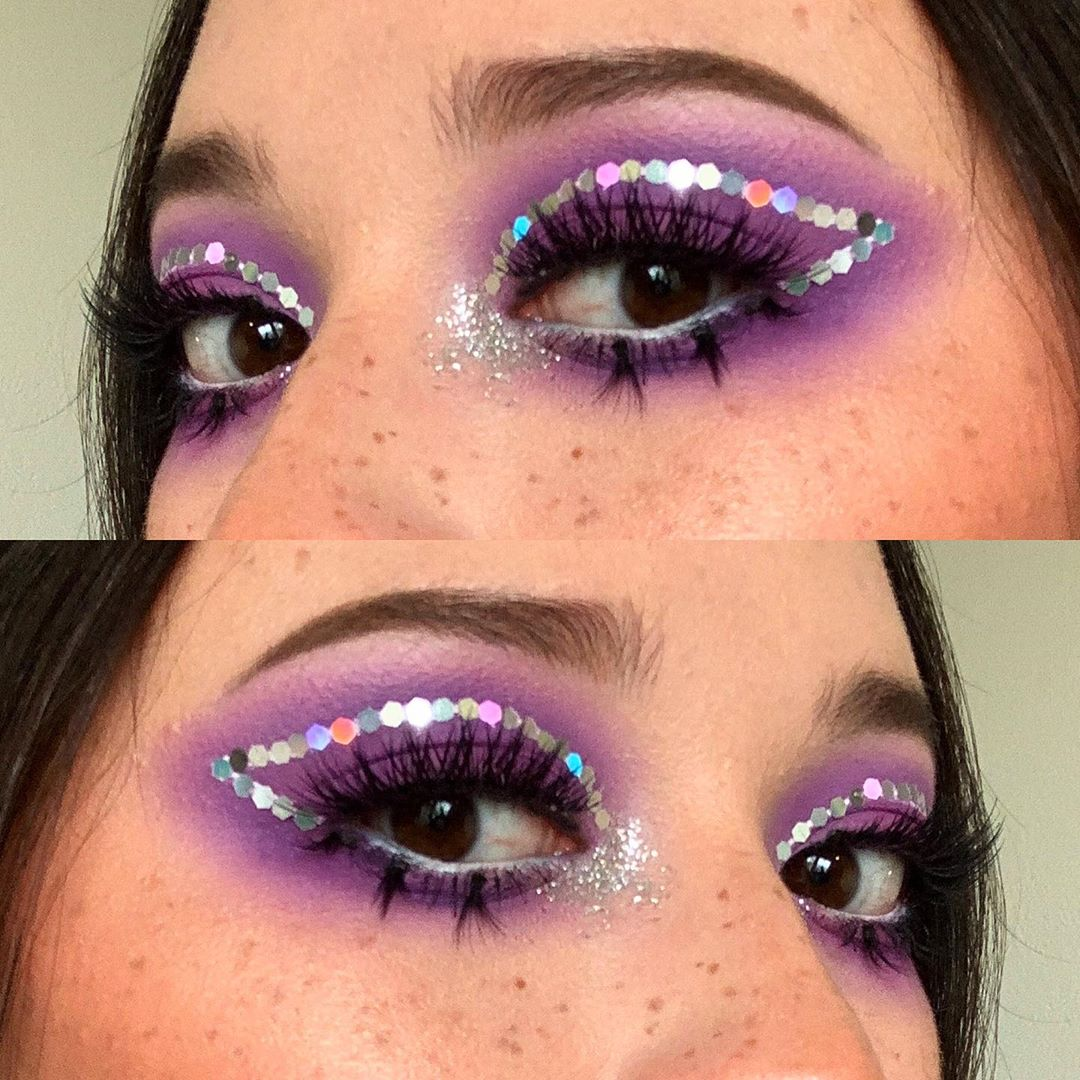 Disco cut crease for Faux Freckles Look