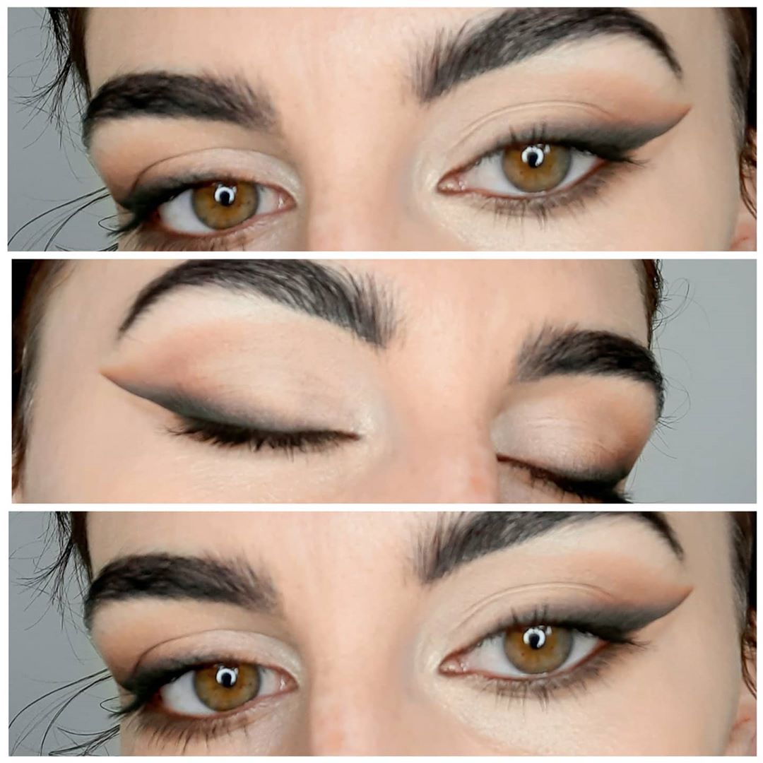 Ombre winged eyeliner