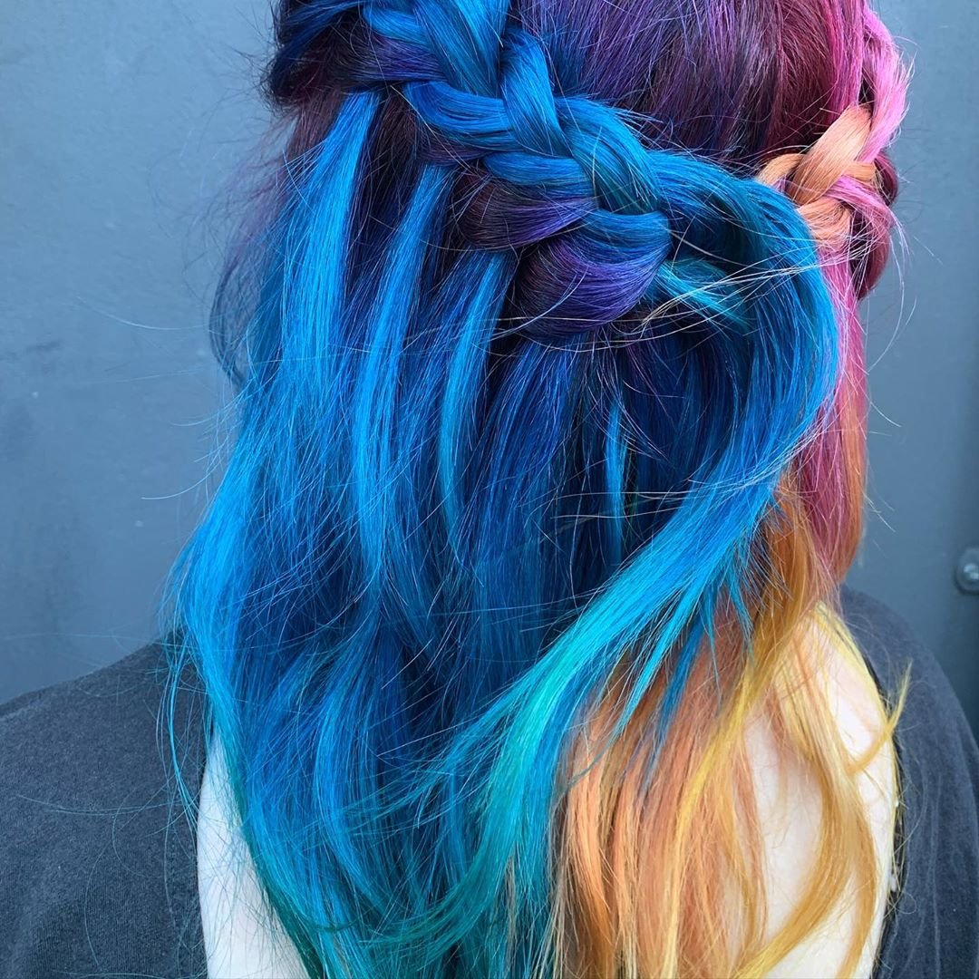Incredible image of rainbow hair inspiration