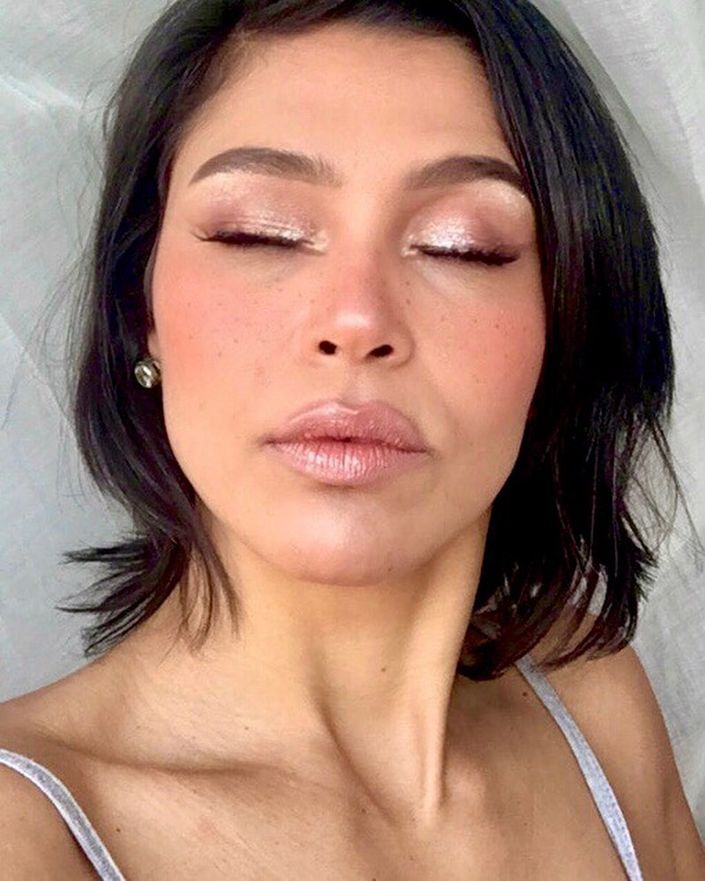 Shimmery Faux Freckles Look