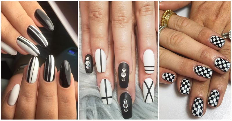 Discover the best black and white nails of 2020! Pump up your creativity with these bold black and white acrylic nail designs.