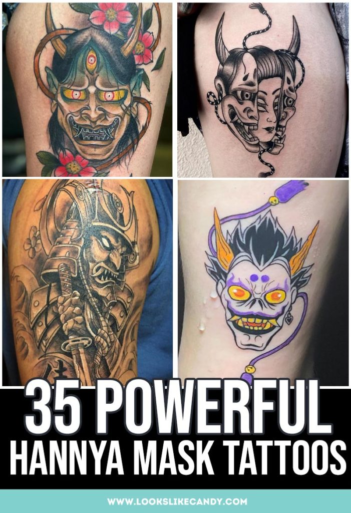 Huge list of Hannya mask tattoos! Hannya mask tattoos are intense and fierce, each with their own deeper meaning and symbolism.