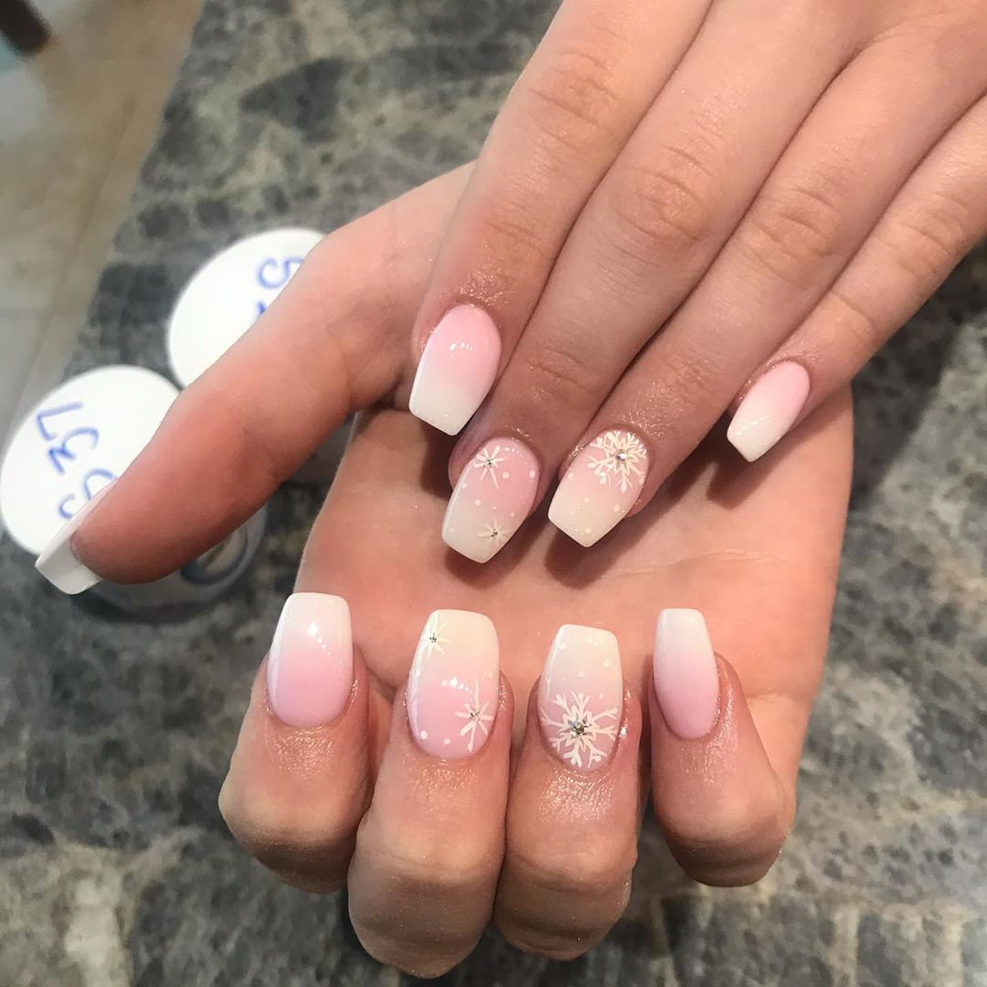 Image of glamorous french ombre nails