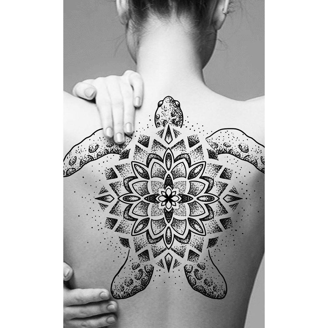 Full back Sea Turtle Tattoo