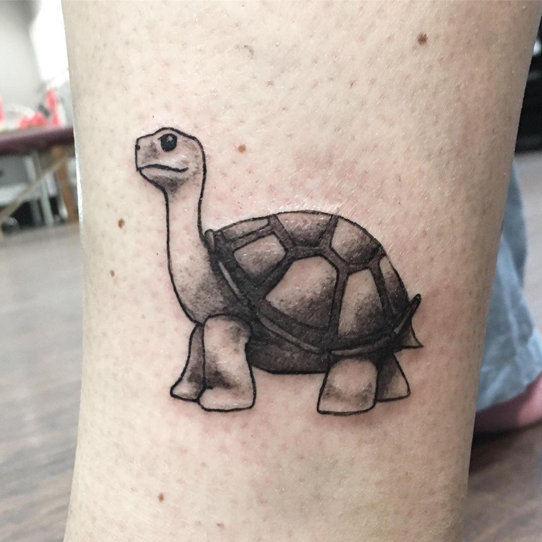 Cartoon Sea Turtle Tattoo