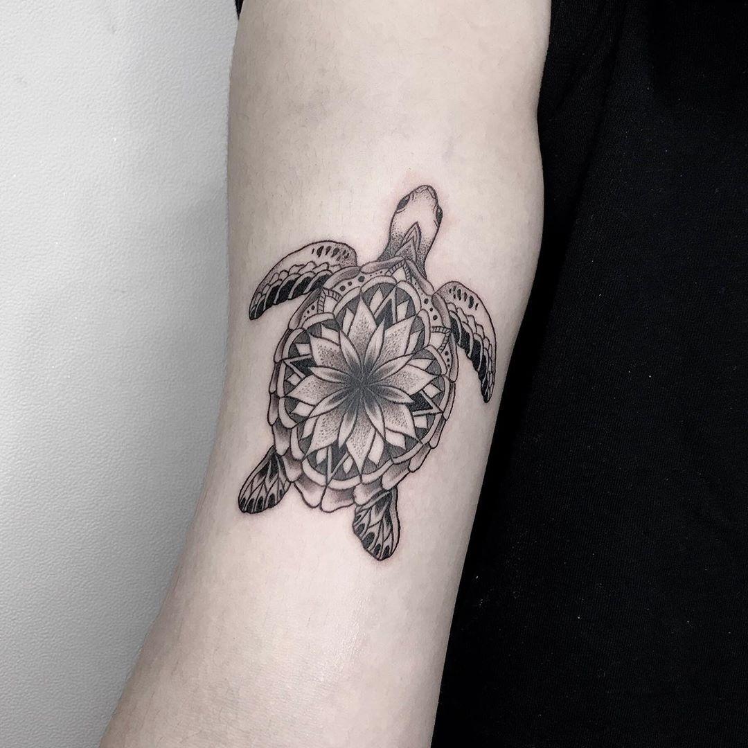 Delicate Sea Turtle Tattoo
