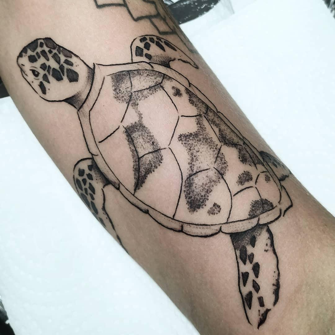 Simple Sea Turtle Tattoo