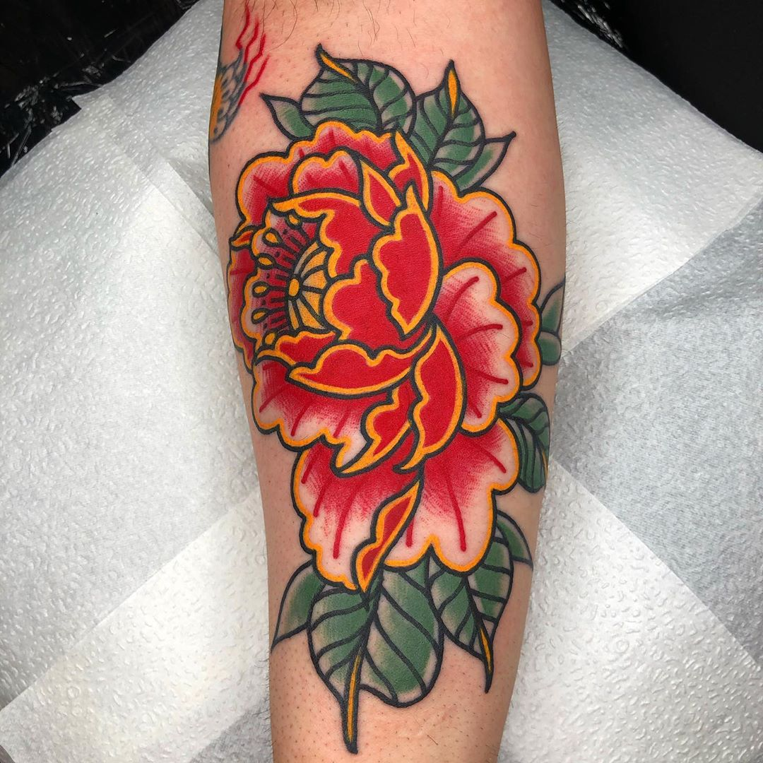 Image of Peony Tattoo design