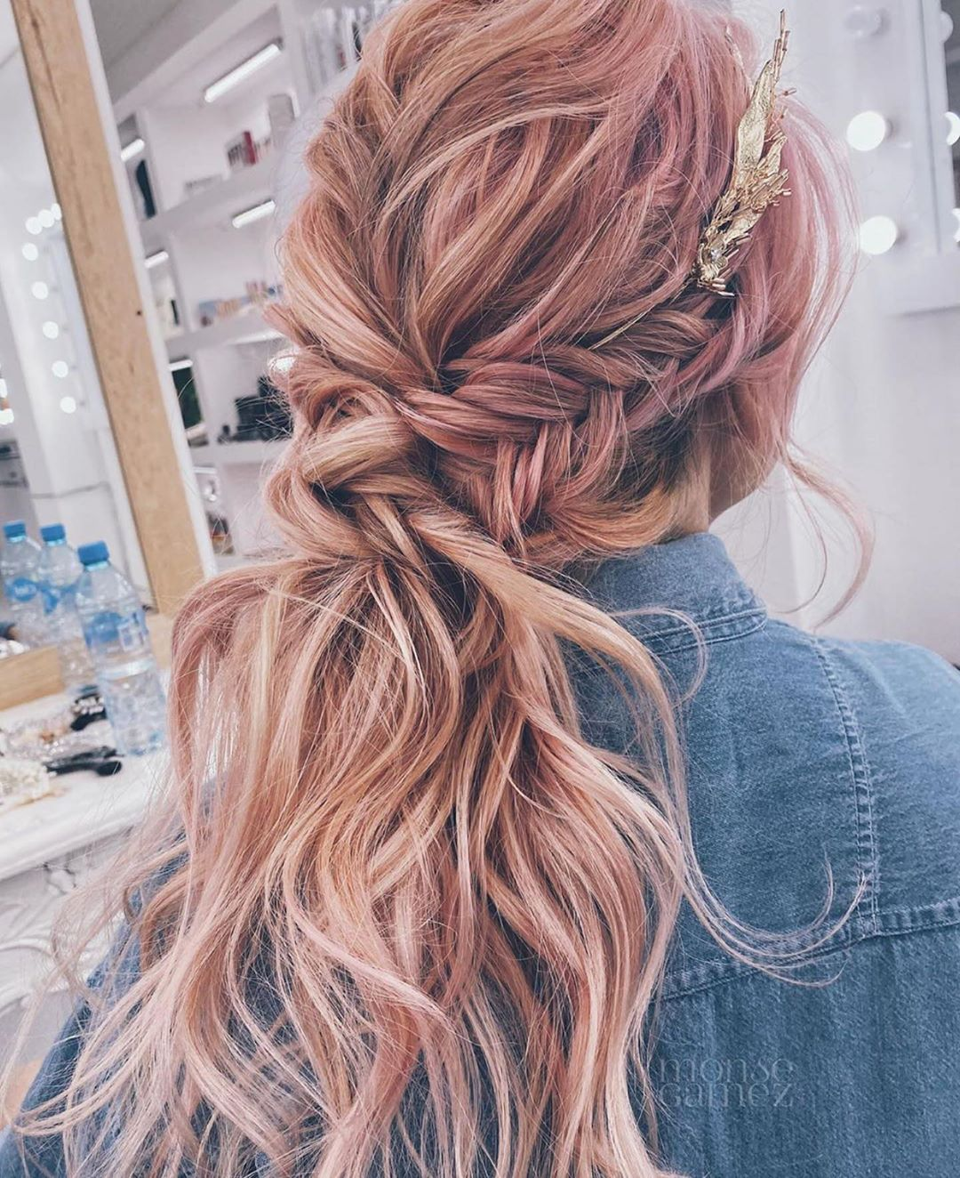 Twisted Ponytail in Boho Braid style