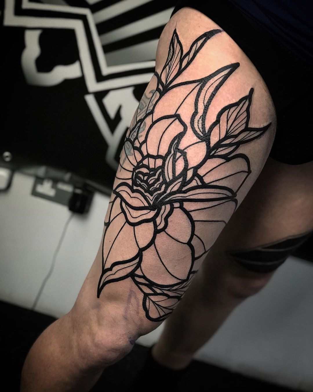 Pretty Image of Peony Tattoo design