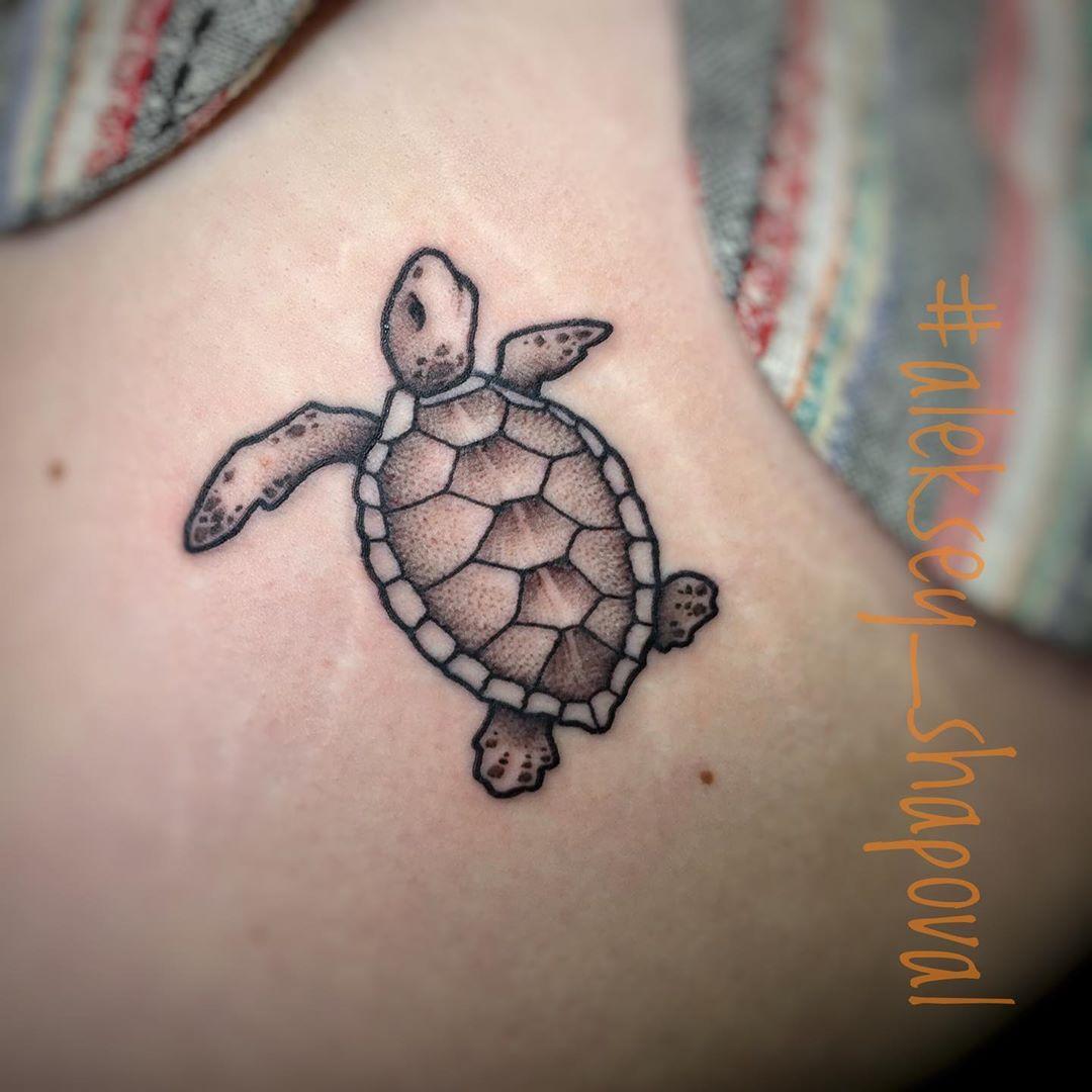 Mini Sea Turtle Tattoo