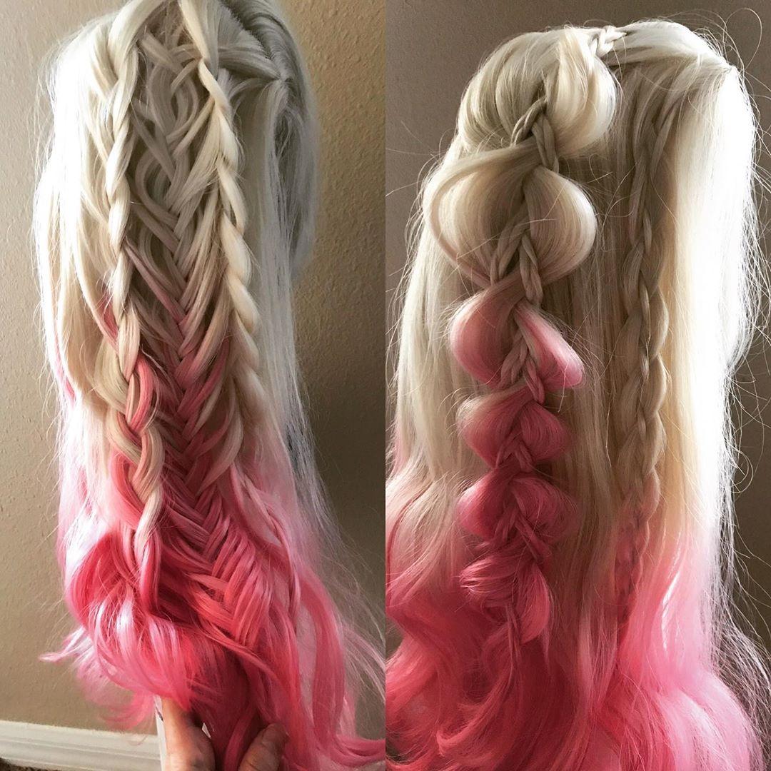 Viking weave in boho braid style