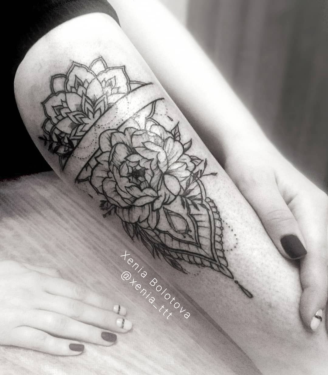 Forearm Peony Tattoo design