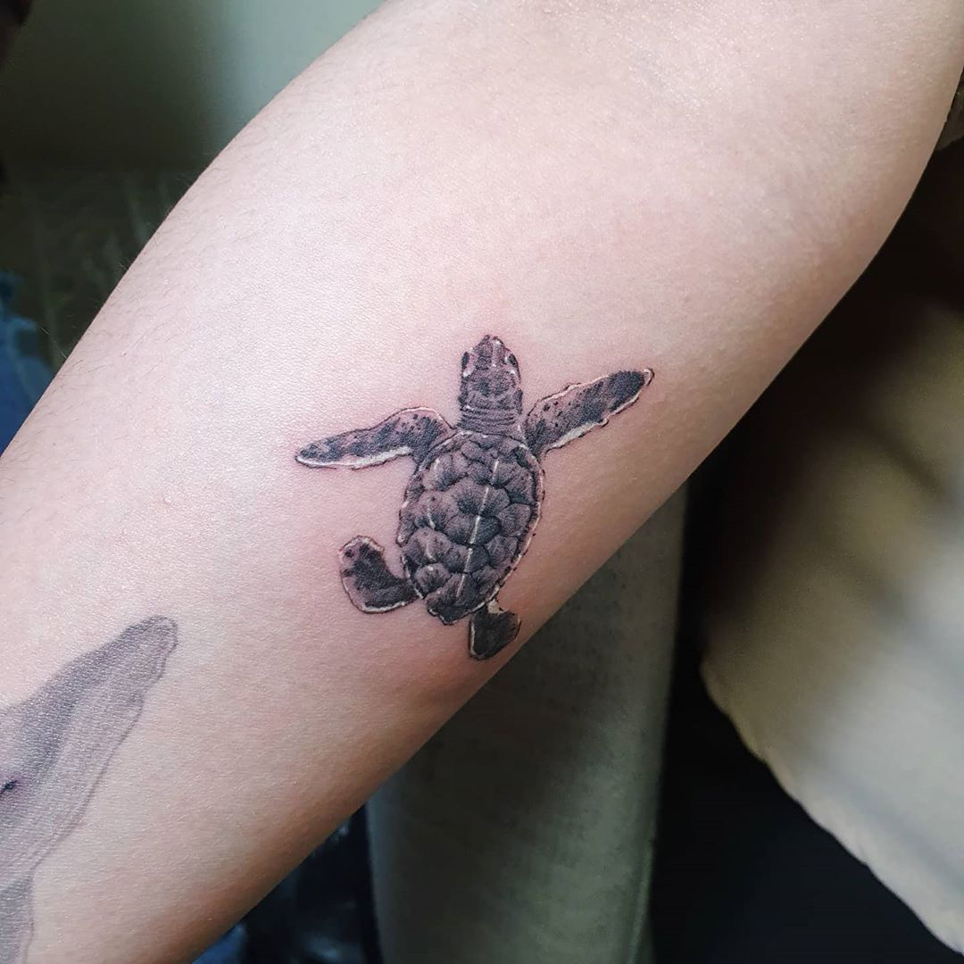 baby Sea Turtle Tattoo