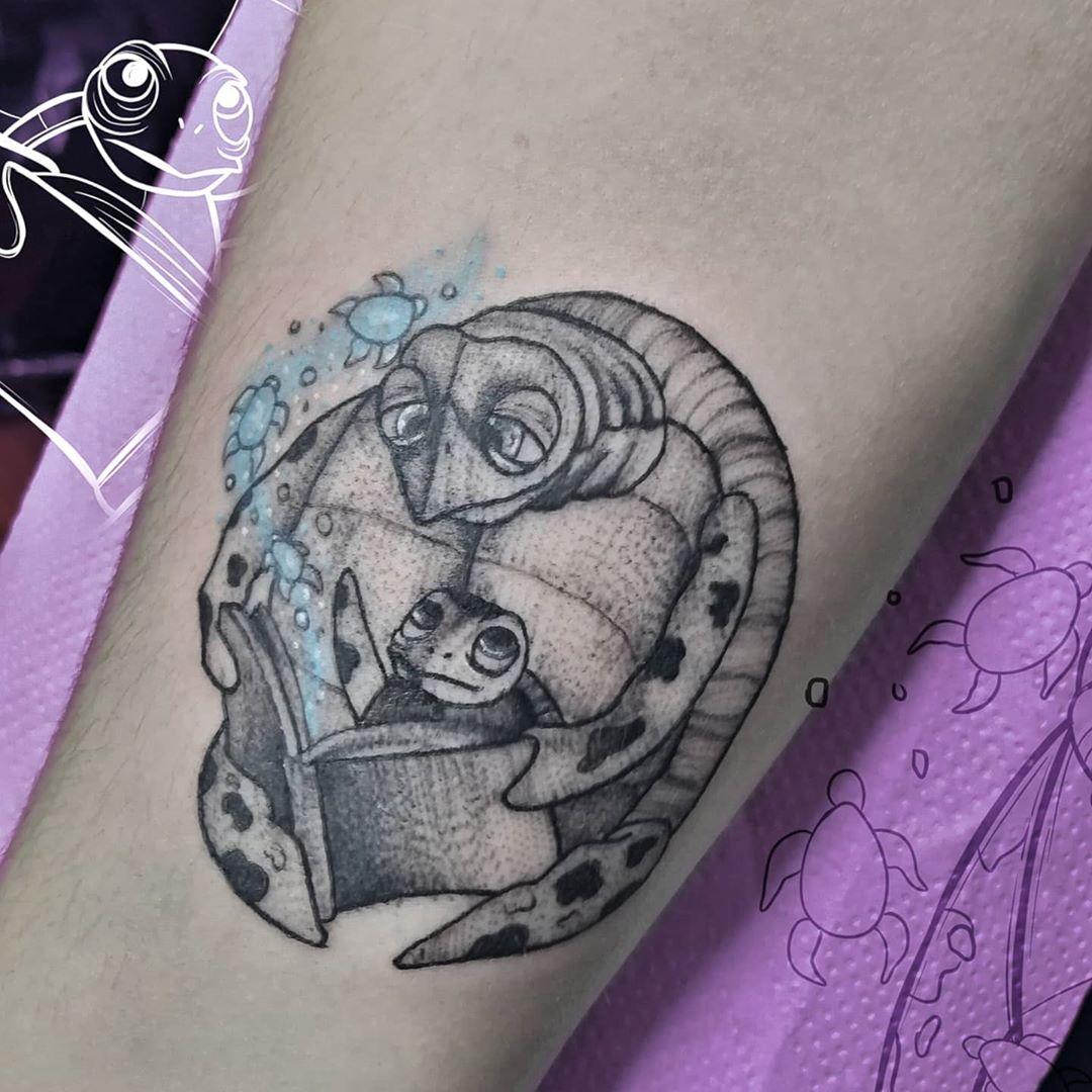 Squirt & crush from Finding Nemo tattoo