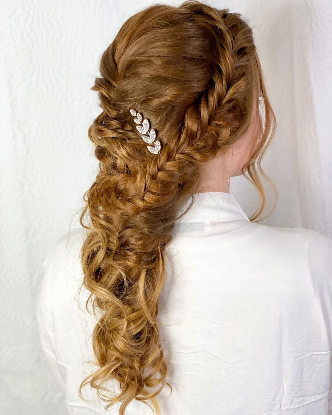 Multiple types of braids including French braid and bohemian style braids