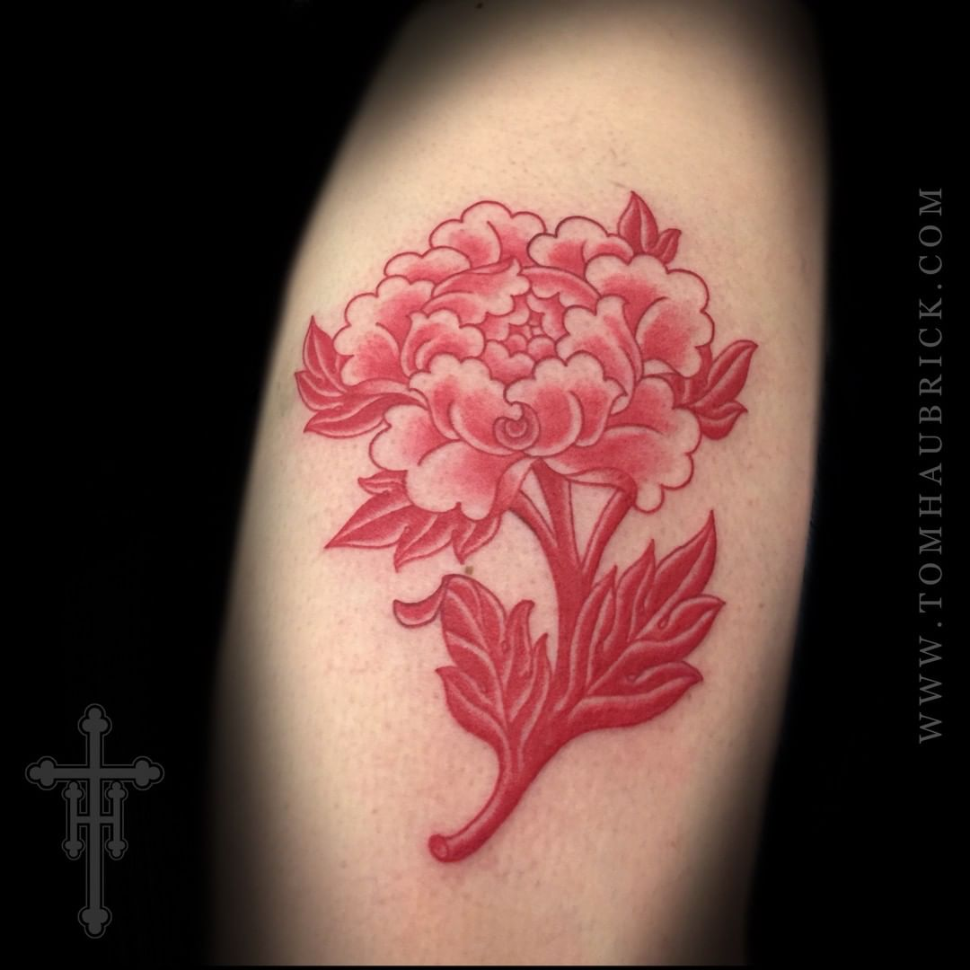 Chinese Image of Peony Tattoo design