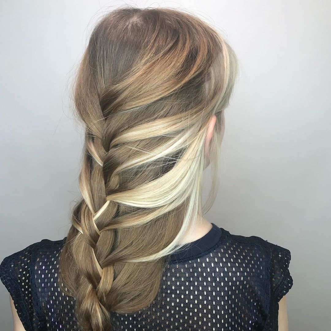 Faux Half-up in Boho Braid style