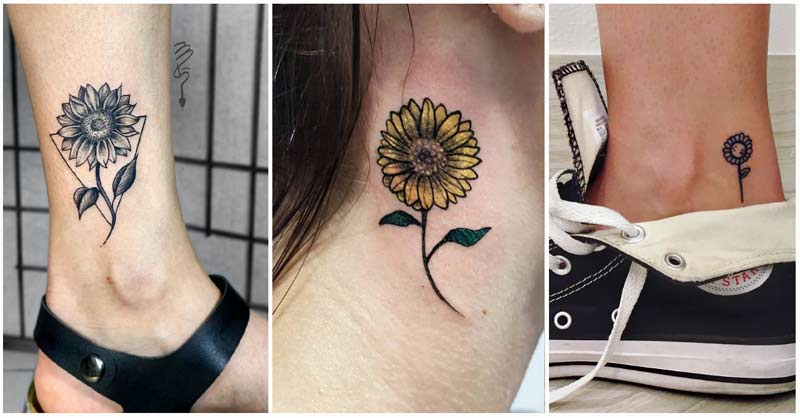 Image of sunflower tattoo ideas