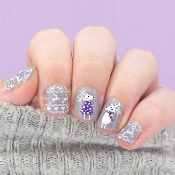 Characters featured on Christmas nails