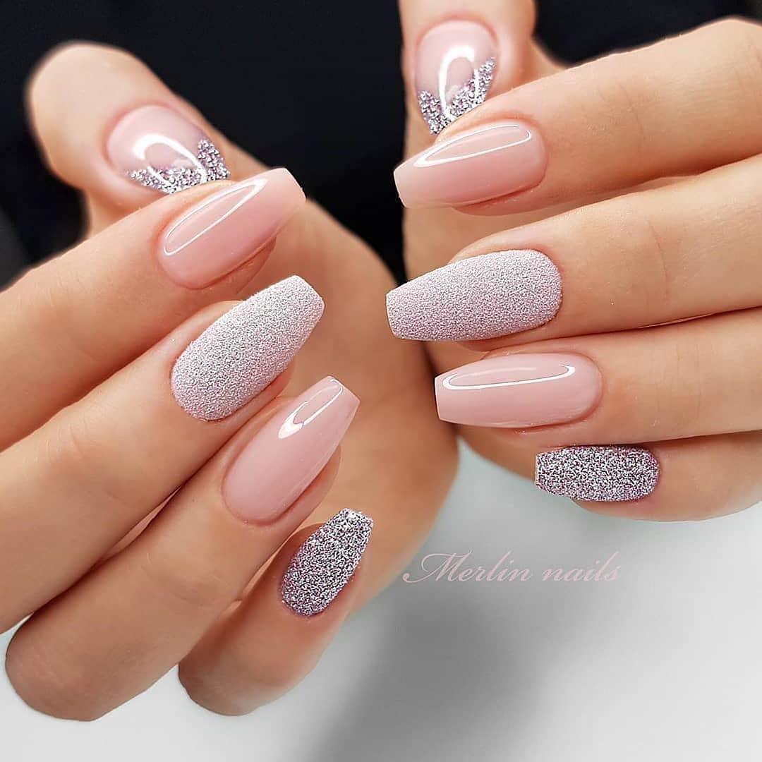 Image of sugared Christmas nail designs