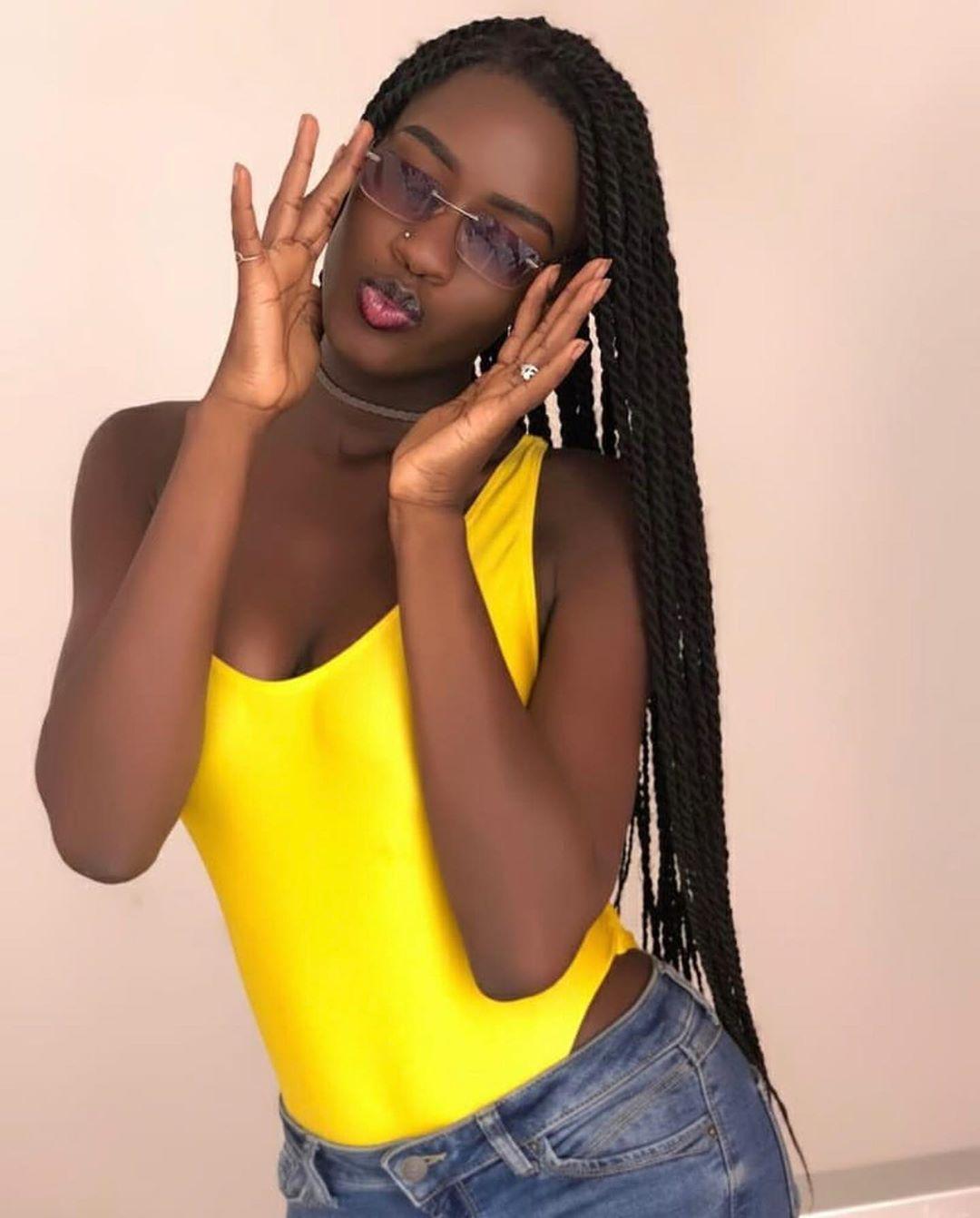 Long Senegal twist hairstyle