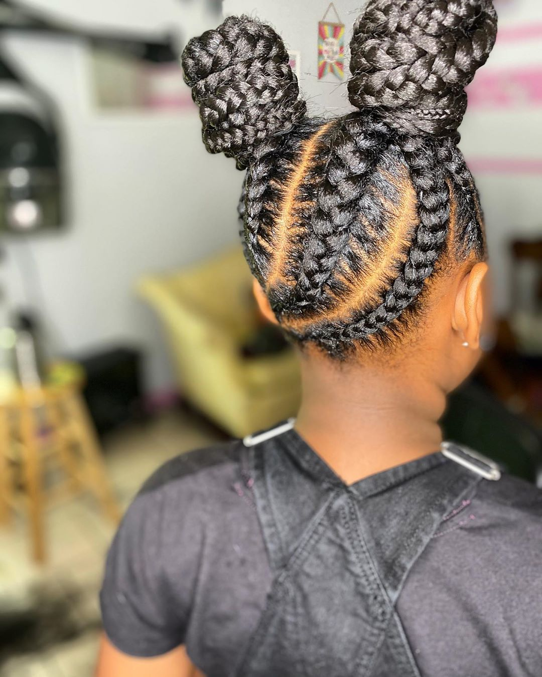 Image of Senegalese Twists in cute cornrow braids