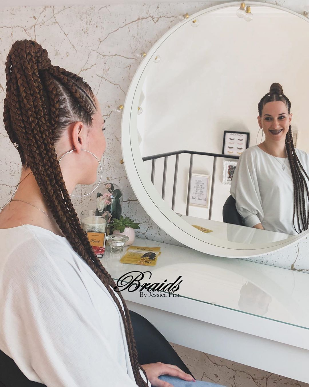 Long hair in senegalese twists