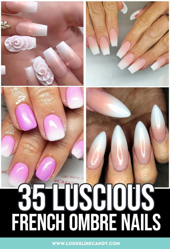 French Ombre Nails Pinterest Image
