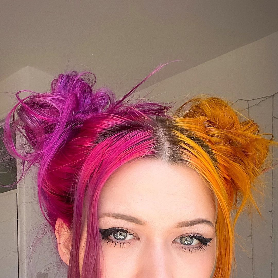 Cute image of space buns hair style for inspiration