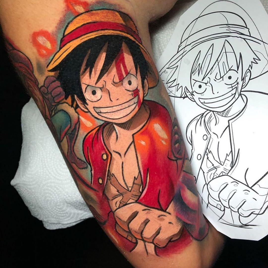 Impressive image of an anime tattoo