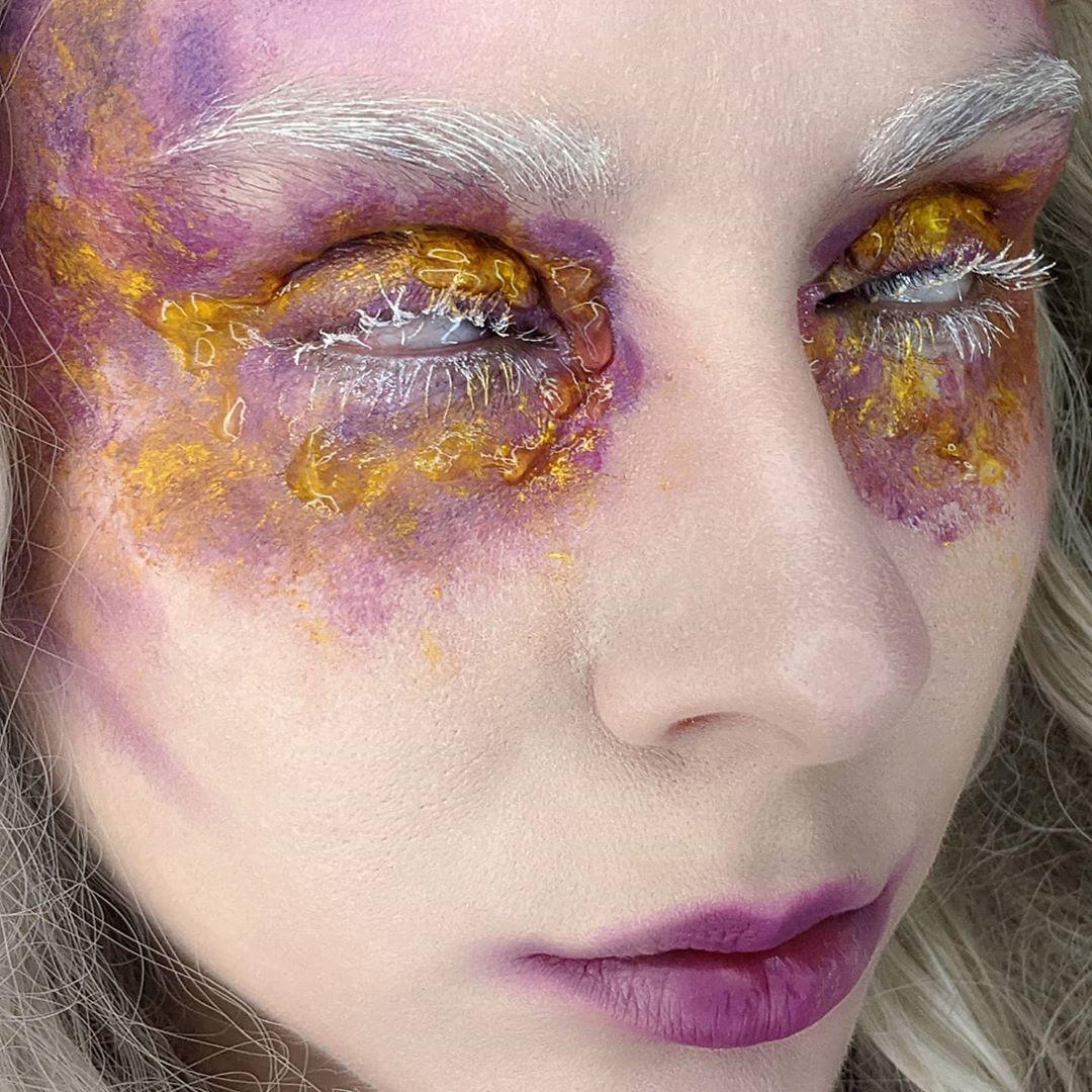 Bold image of editorial makeup