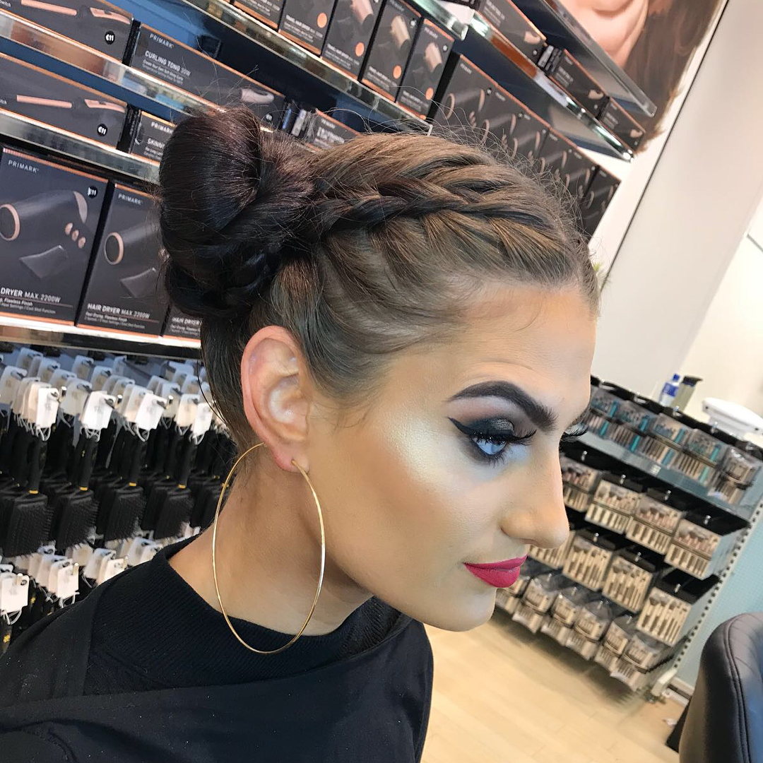 Inspirational picture of a space buns braids hairstyle idea.