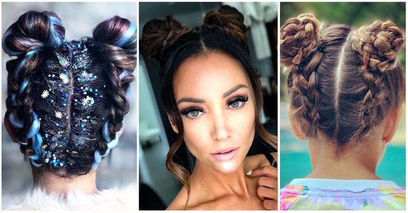 space bun braids featured image