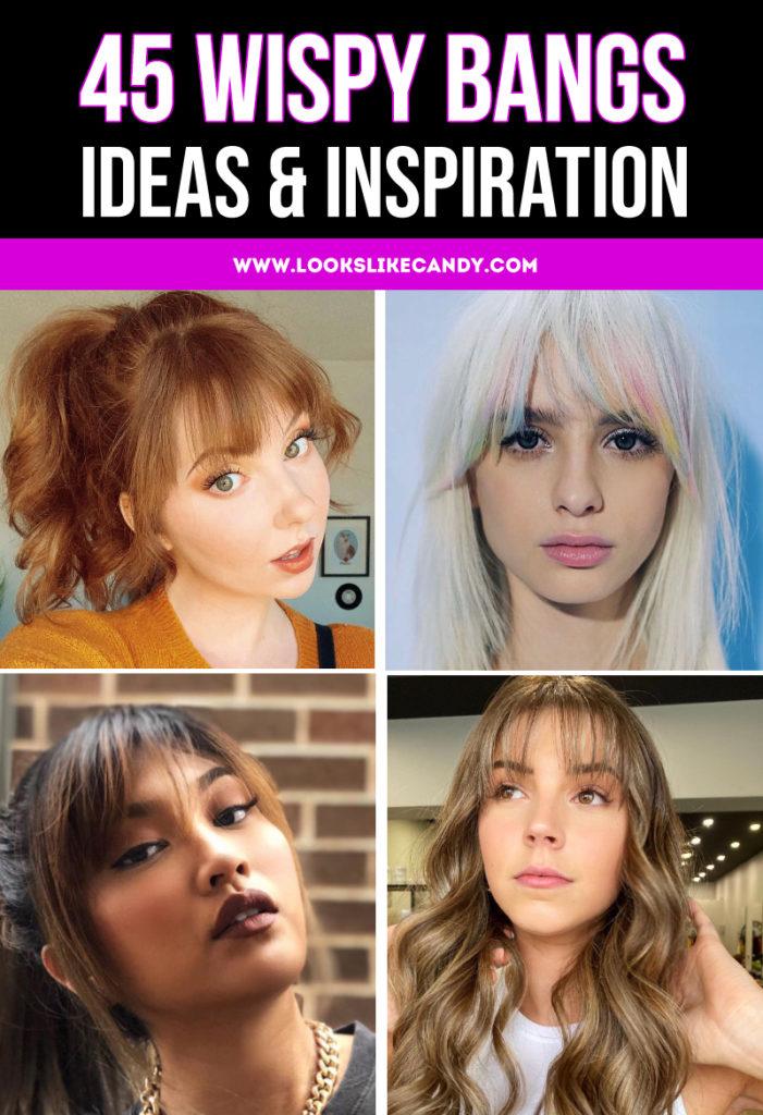 Ideas for wispy bangs hair