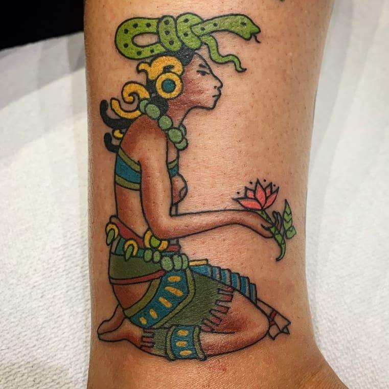 Inspirational Image of Mayan tattoo